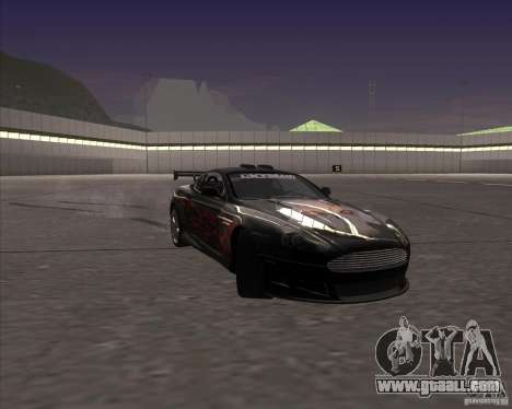 Aston Martin DB9 tunable for GTA San Andreas upper view