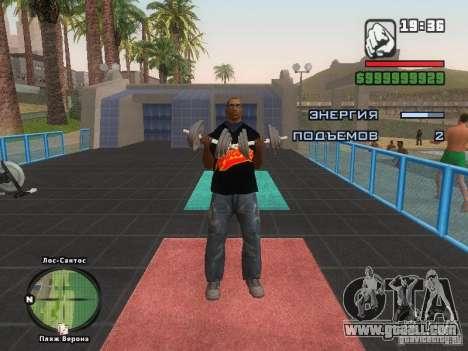 THE MIZ T-shirt for GTA San Andreas eighth screenshot