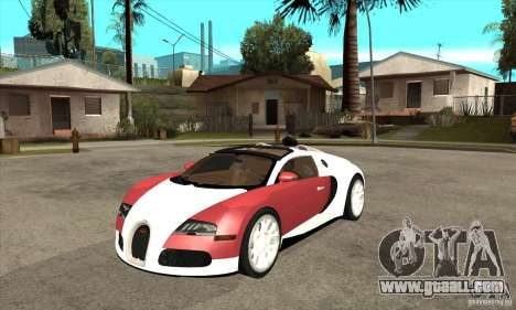 Bugatti Veyron Grand Sport for GTA San Andreas