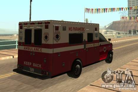Ambulance from GTA 4 for GTA San Andreas right view