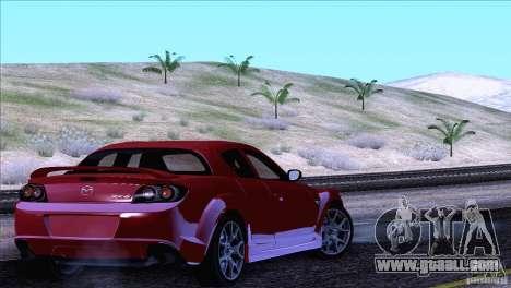 Mazda RX8 R3 2011 for GTA San Andreas upper view