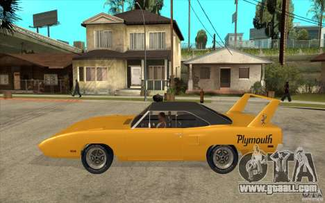 Plymouth Roadrunner Superbird Custom for GTA San Andreas left view