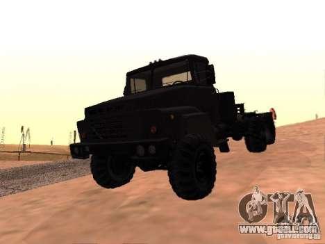 KrAZ 260V for GTA San Andreas upper view