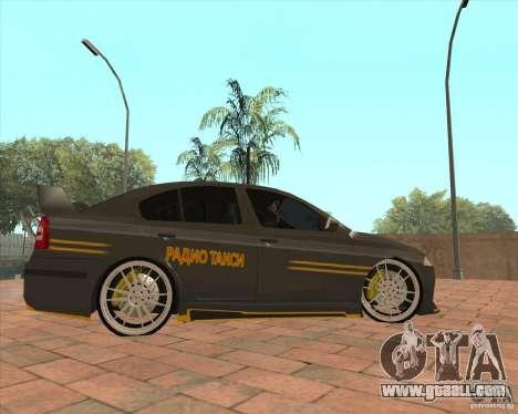 Skoda Octavia Taxi for GTA San Andreas left view
