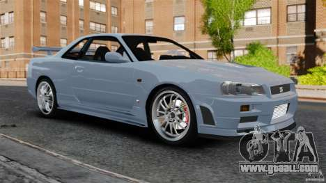 Nissan Skyline GT-R R34 Fast and Furious 4 for GTA 4