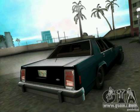 Ford Crown Victora LTD 1985 for GTA Vice City back left view