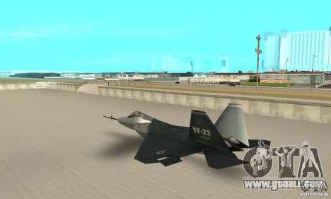 YF-22 Standart for GTA San Andreas back left view