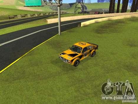 Opel Kadett for GTA San Andreas bottom view