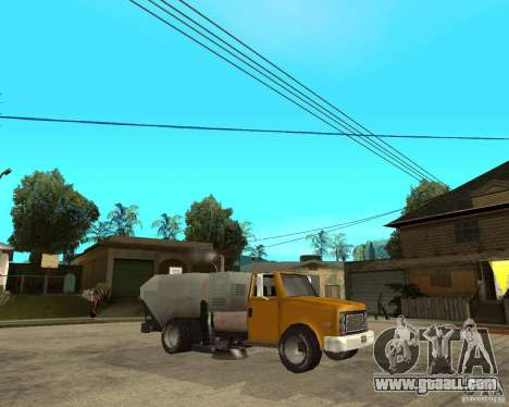 Cleaning truck for GTA San Andreas right view
