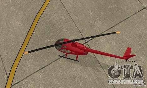 Robinson R44 Raven II NC 1.0 Skin 1 for GTA San Andreas inner view