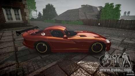 Dodge Viper 1996 for GTA 4 inner view