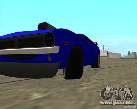 Plymouth Hemi Cuda from NFS Carbon for GTA San Andreas back view