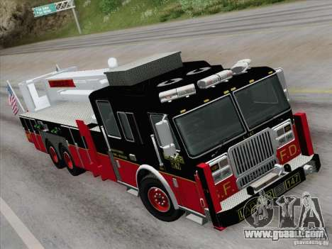 Seagrave Marauder II. SFFD Ladder 147 for GTA San Andreas back view