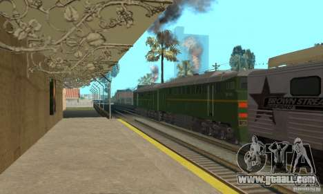Locomotive 2te116 for GTA San Andreas left view