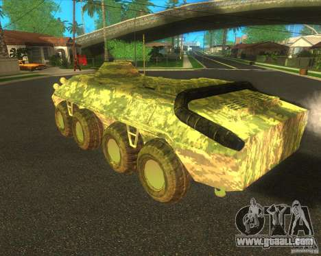BTR-80 Electronic camouflage for GTA San Andreas right view