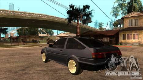 Toyota Corolla AE86 JDM for GTA San Andreas back left view