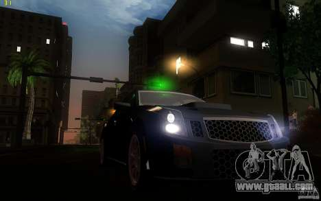 Cadillac CTS-V for GTA San Andreas inner view