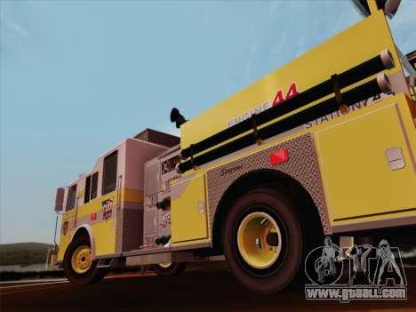 Seagrave Marauder II BCFD Engine 44 for GTA San Andreas wheels