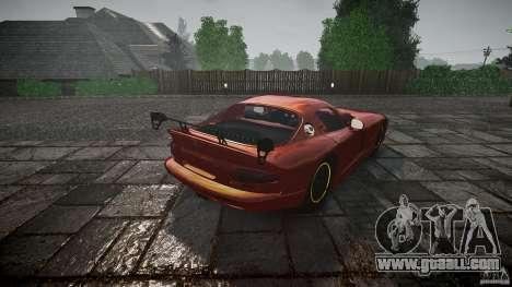 Dodge Viper 1996 for GTA 4 side view
