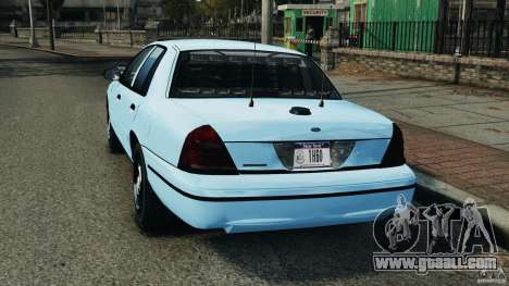 Ford Crown Victoria Police Unit [ELS] for GTA 4 back left view