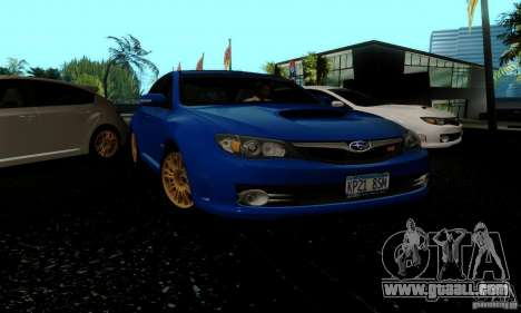 2008 Subaru Impreza Tuneable for GTA San Andreas