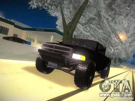 Dodge Ram Prerunner for GTA San Andreas upper view