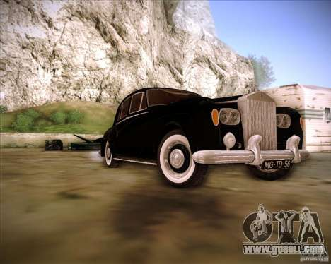 Rolls Royce Silver Cloud III for GTA San Andreas back view