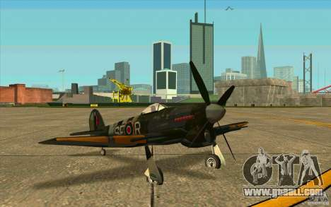 Hawker Typhoon for GTA San Andreas left view