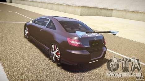 Honda Civic Si Tuning for GTA 4 back left view