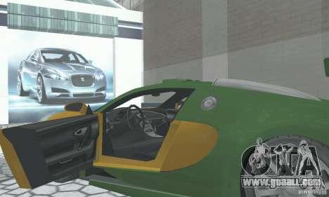Bugatti Veyron 2005 for GTA San Andreas back view