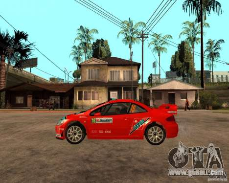 Peugeot 307 WRC for GTA San Andreas left view