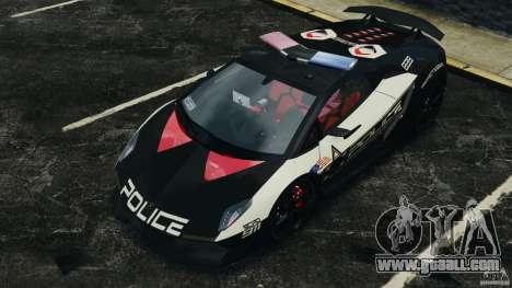 Lamborghini Sesto Elemento 2011 Police v1.0 RIV for GTA 4 interior
