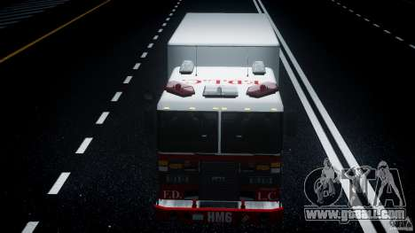 LCFD Hazmat Truck v1.3 for GTA 4 upper view