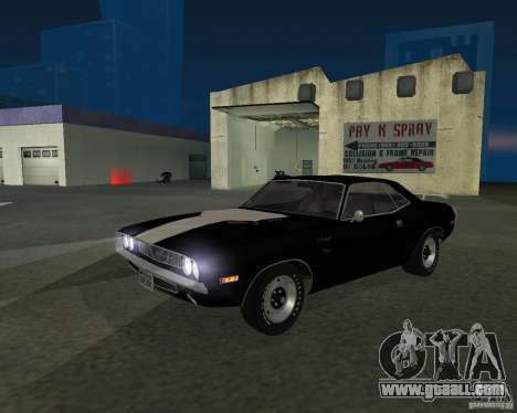 Dodge Challenger for GTA San Andreas back left view