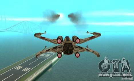 X-WING of Star Wars v1 for GTA San Andreas back left view