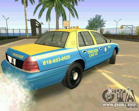 Ford Crown Victoria 2003 Taxi Cab for GTA San Andreas left view
