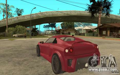 Mastretta MXT for GTA San Andreas back left view