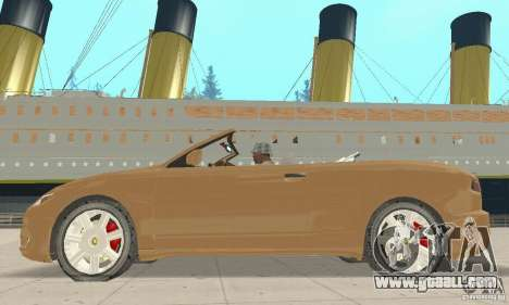 Chrysler Cabrio for GTA San Andreas back left view
