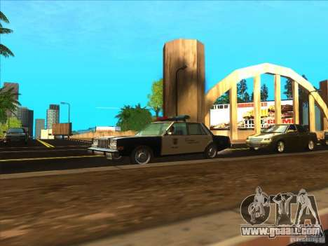 Dodge Diplomat 1985 LAPD Police for GTA San Andreas right view
