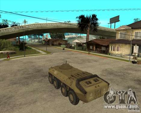The APC from s. t. a. l. k. e. R for GTA San Andreas left view