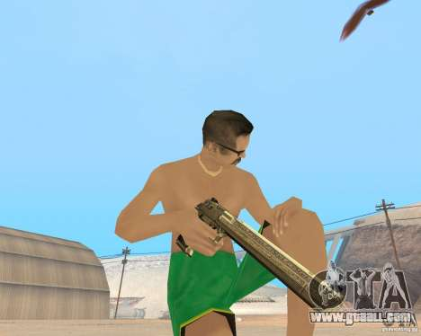 Gold weapons pack for GTA San Andreas second screenshot