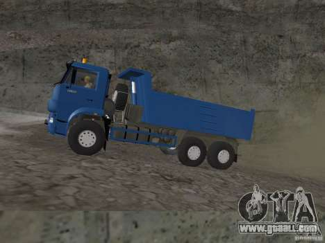 KAMAZ 65222 for GTA San Andreas back left view