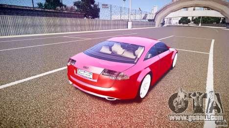 Audi Nuvollari Quattro for GTA 4 upper view