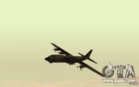 C-130 From Black Ops for GTA San Andreas left view