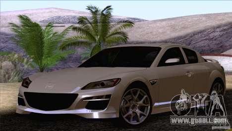 Mazda RX8 R3 2011 for GTA San Andreas right view