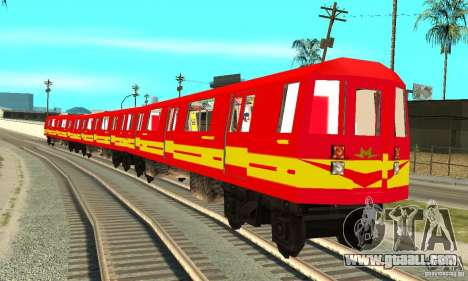 Liberty City Train Red Metro for GTA San Andreas back left view