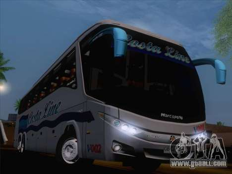 Marcopolo Paradiso 1200 G7 Volvo B12R for GTA San Andreas inner view