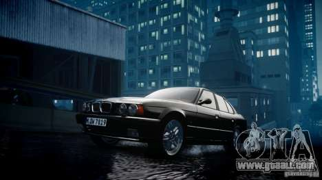 BMW M5 (E34) 1995 v1.0 for GTA 4 inner view