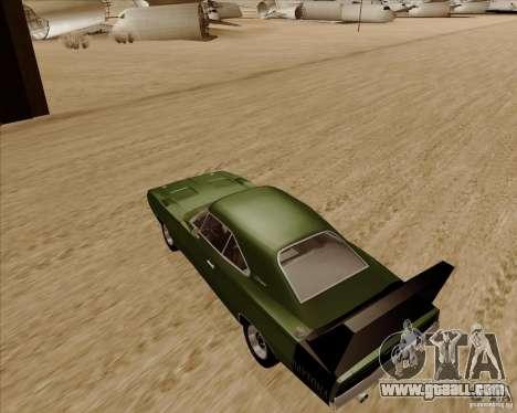 Dodge Charger Daytona 1969 for GTA San Andreas back left view