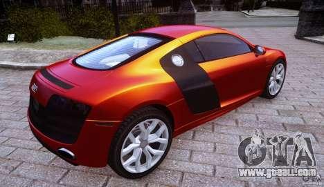 Audi R8 V10 for GTA 4 left view